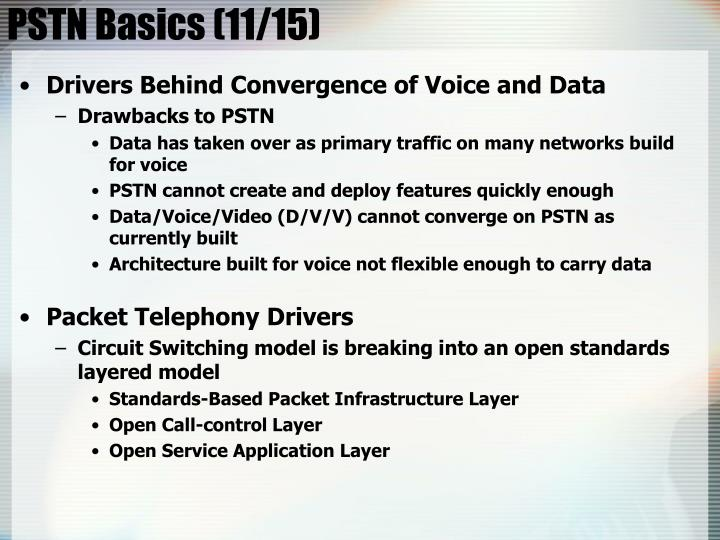 PSTN Basics (11/15)