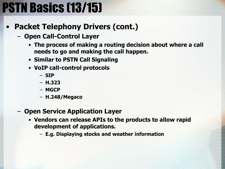 PSTN Basics (13/15)