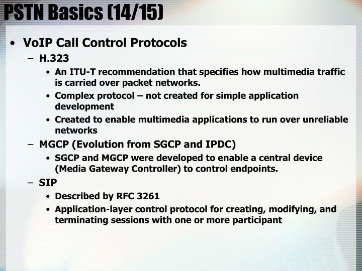 PSTN Basics (14/15)