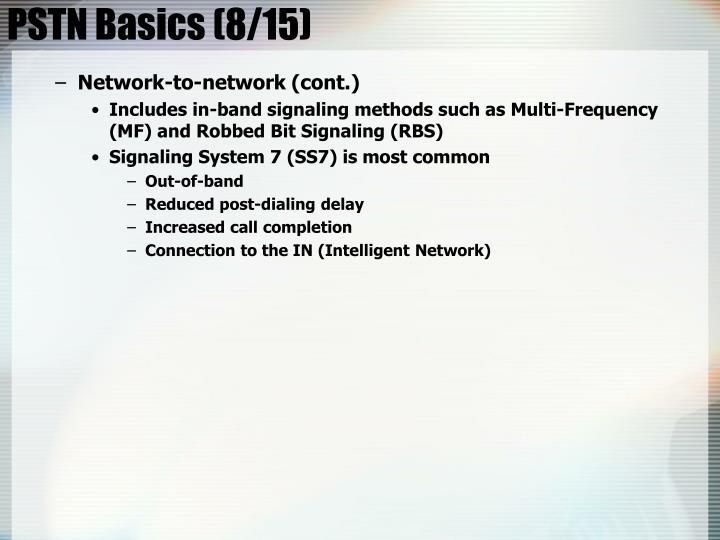 PSTN Basics (8/15)