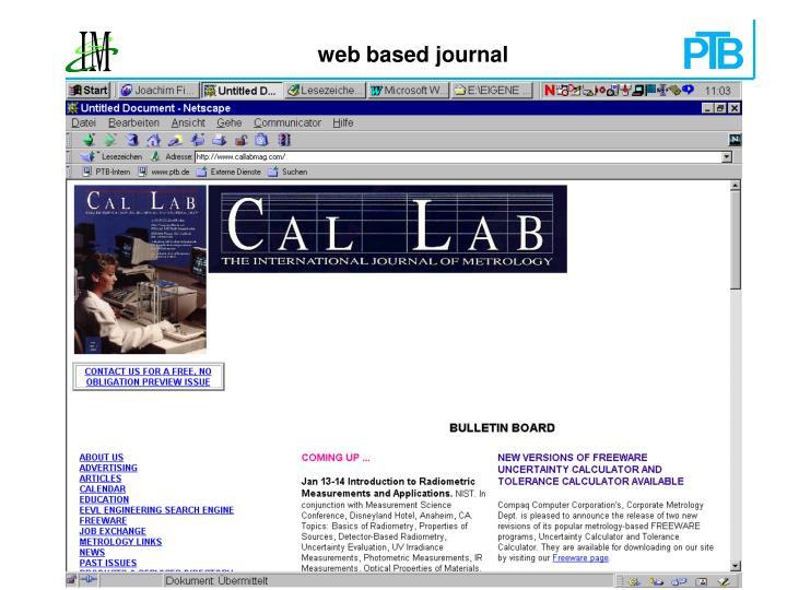 web based journal