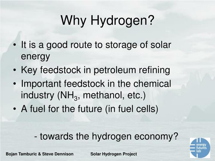 Why Hydrogen?