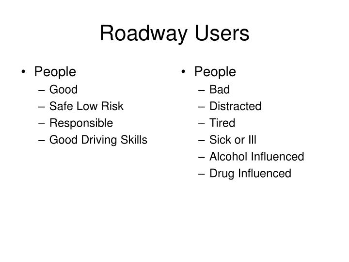 Roadway users
