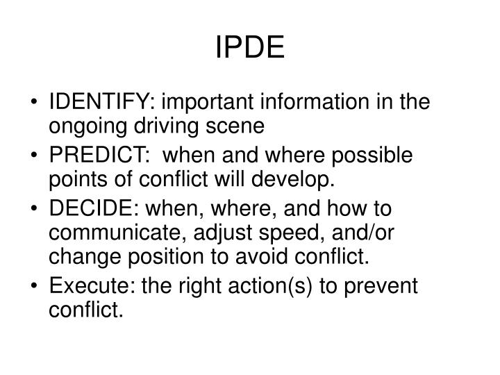 IPDE