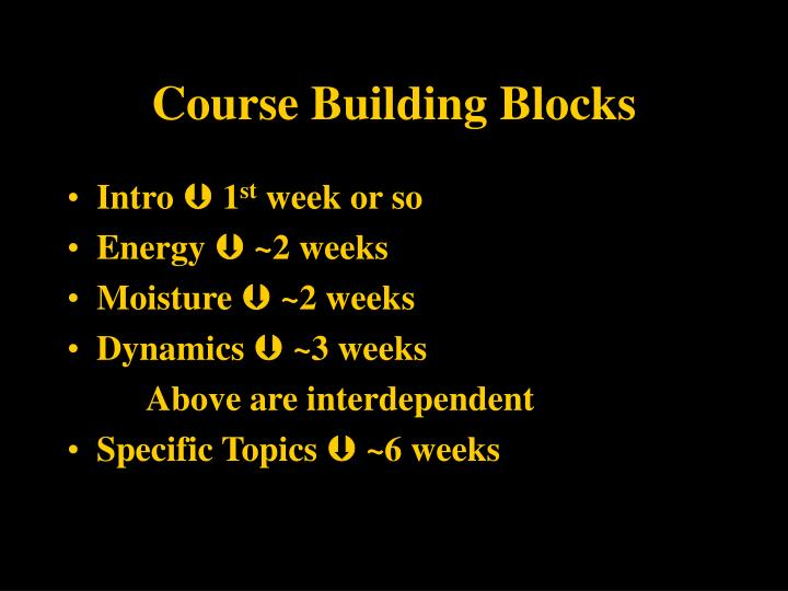 Course Building Blocks