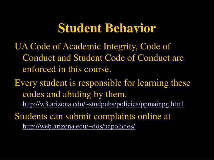 Student Behavior