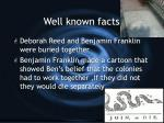 well known facts