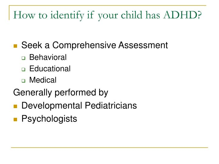 How to identify if your child has ADHD?