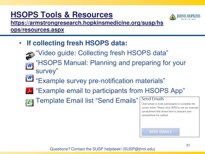 HSOPS Tools & Resources