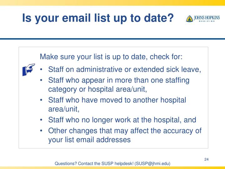 Is your email list up to date?