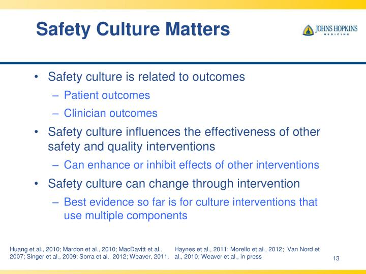 Safety Culture Matters