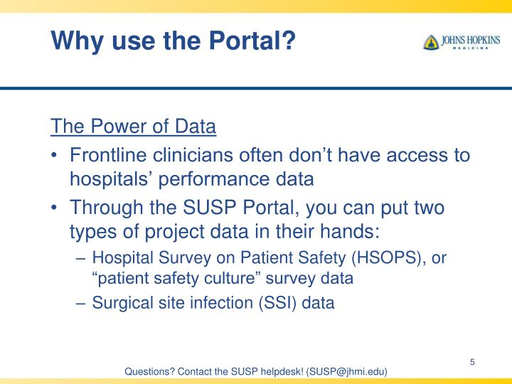 Why use the Portal?