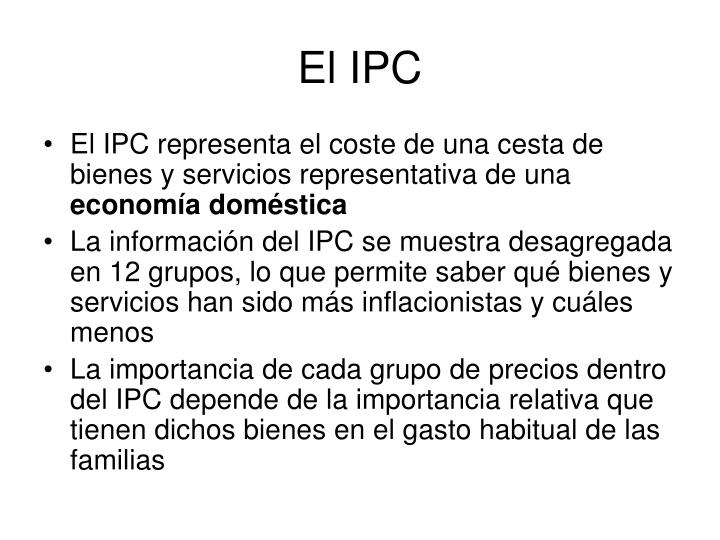 El IPC