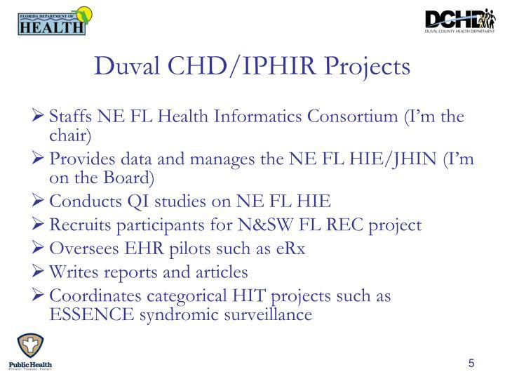 Duval CHD/IPHIR Projects