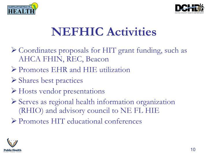 NEFHIC Activities