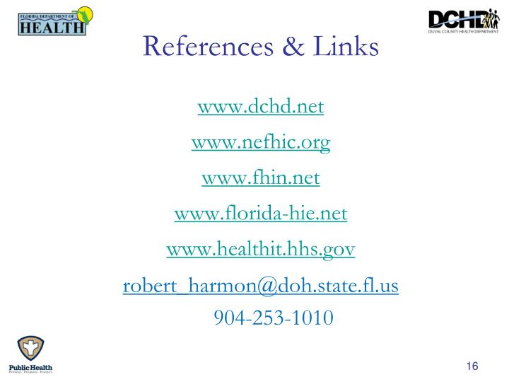 References & Links