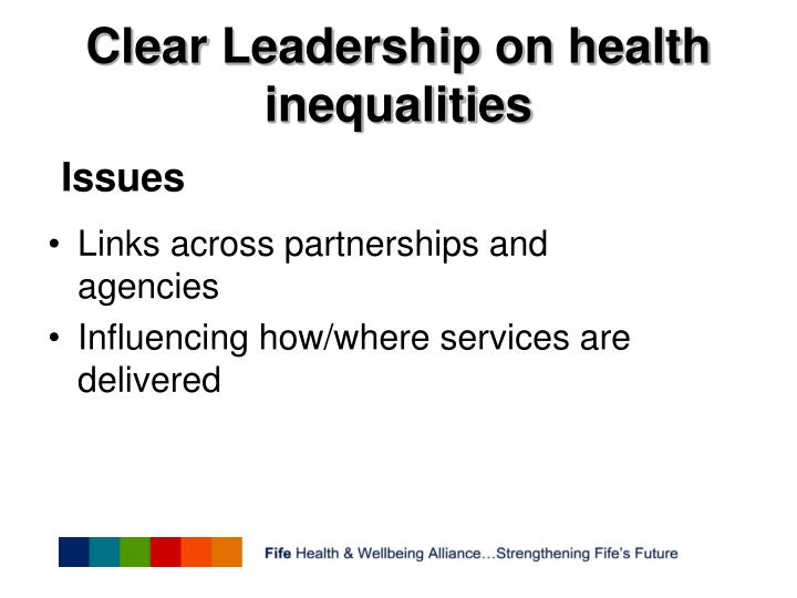 Clear Leadership on health inequalities