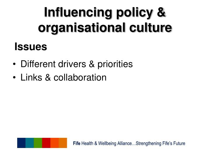 Influencing policy & organisational culture