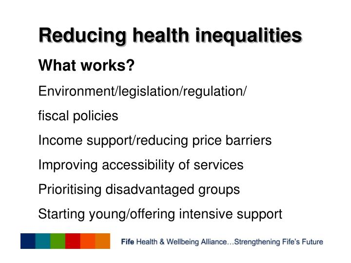 Reducing health inequalities