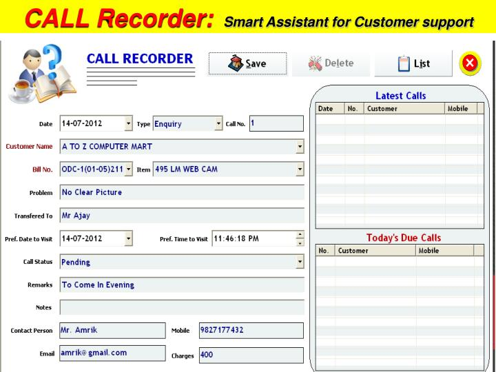 CALL Recorder: