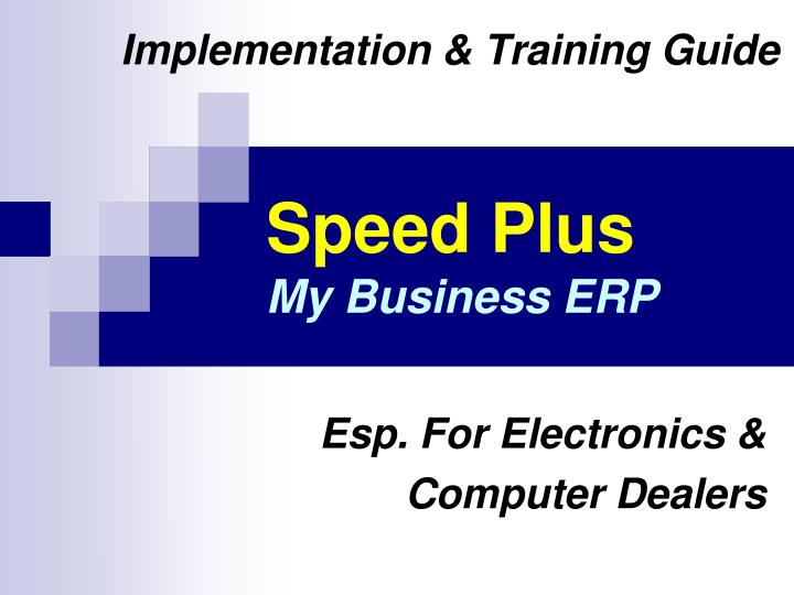 Speed plus my business erp