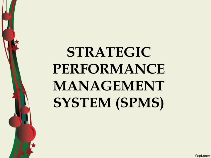 Strategic performance management