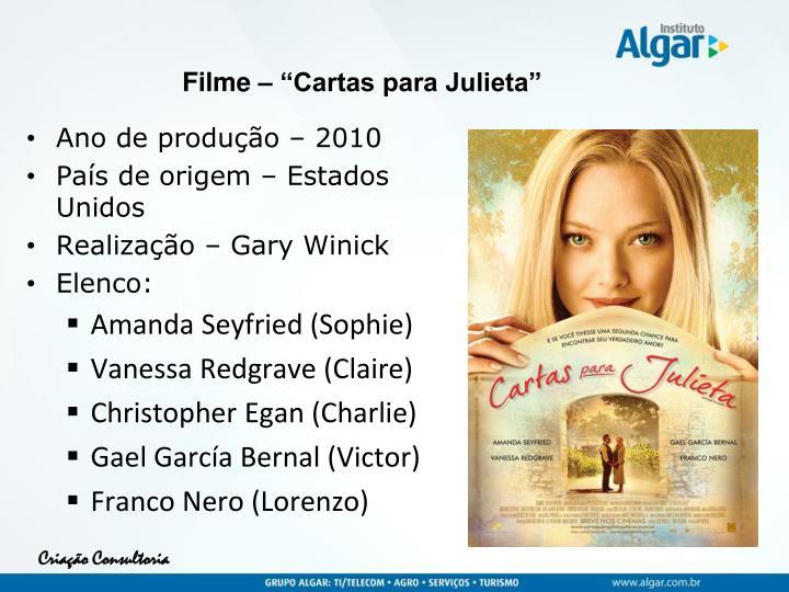 """Filme – """"Cartas para Julieta"""""""