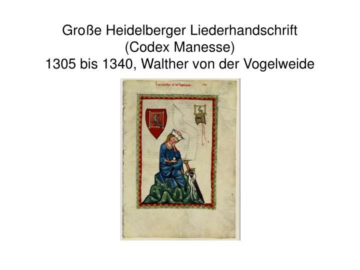 Große Heidelberger Liederhandschrift