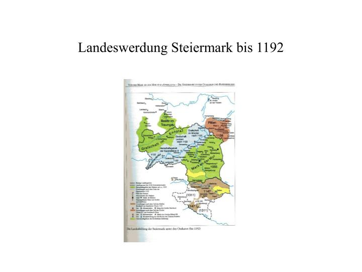 Landeswerdung Steiermark bis 1192