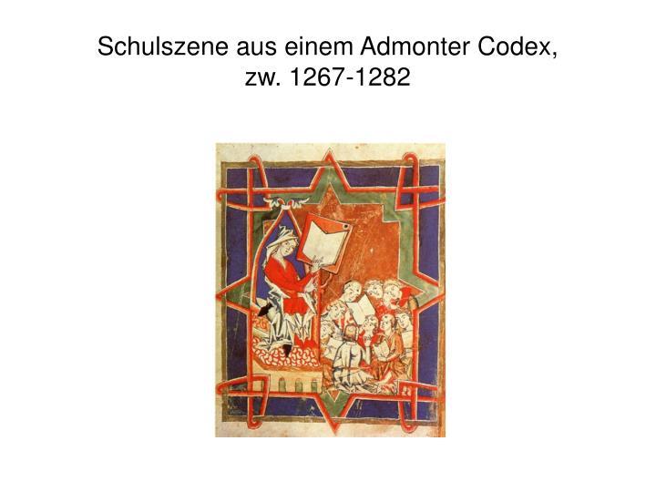 Schulszene aus einem Admonter Codex,