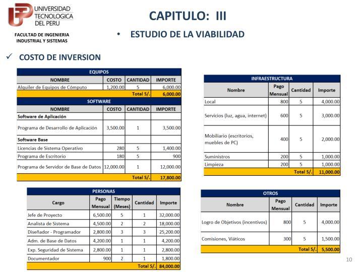 CAPITULO:  III