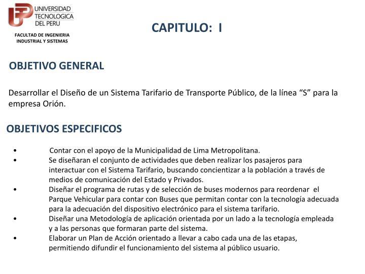CAPITULO:  I