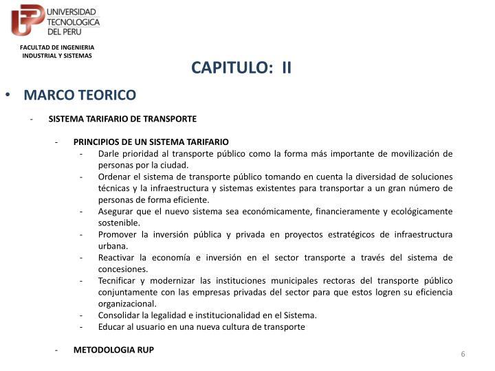 FACULTAD DE INGENIERIA INDUSTRIAL Y SISTEMAS