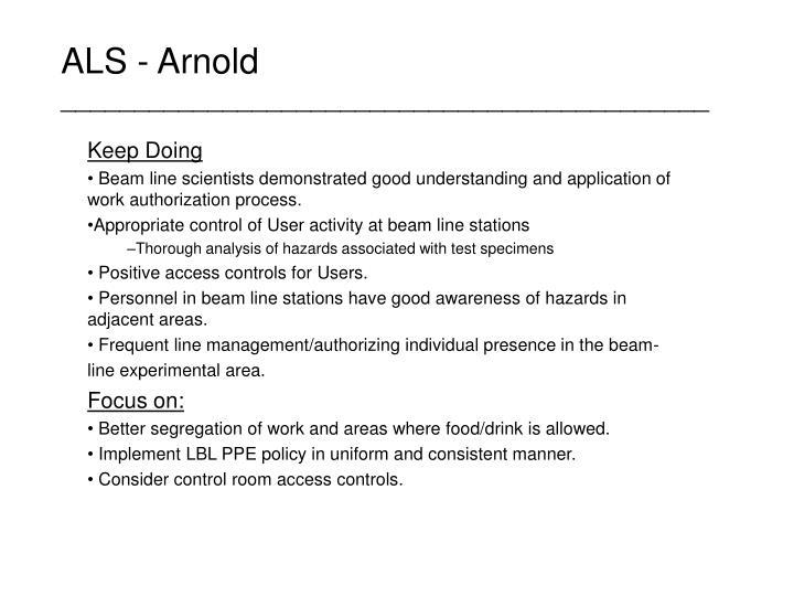 ALS - Arnold