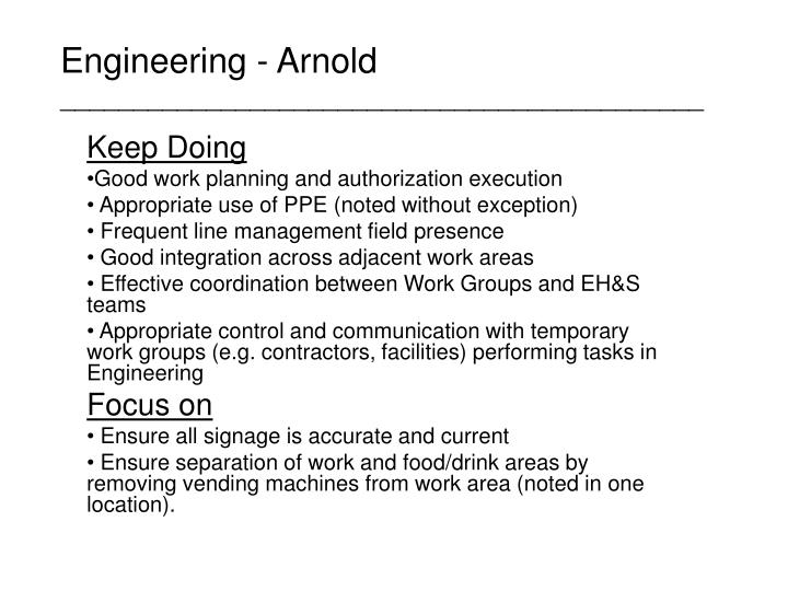 Engineering - Arnold