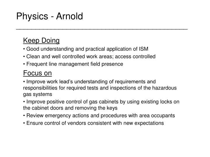 Physics - Arnold