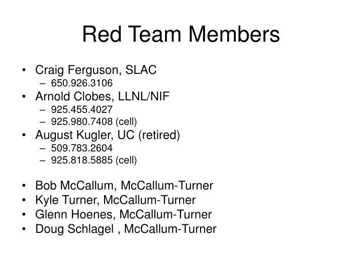 Red Team Members