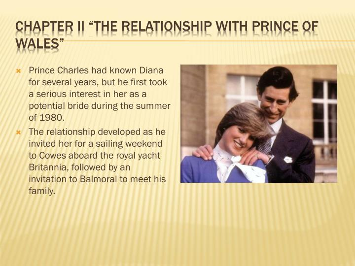 Chapter ii the relationship with prince of wales