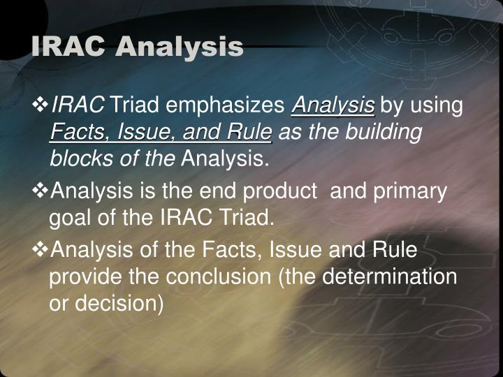 IRAC Analysis
