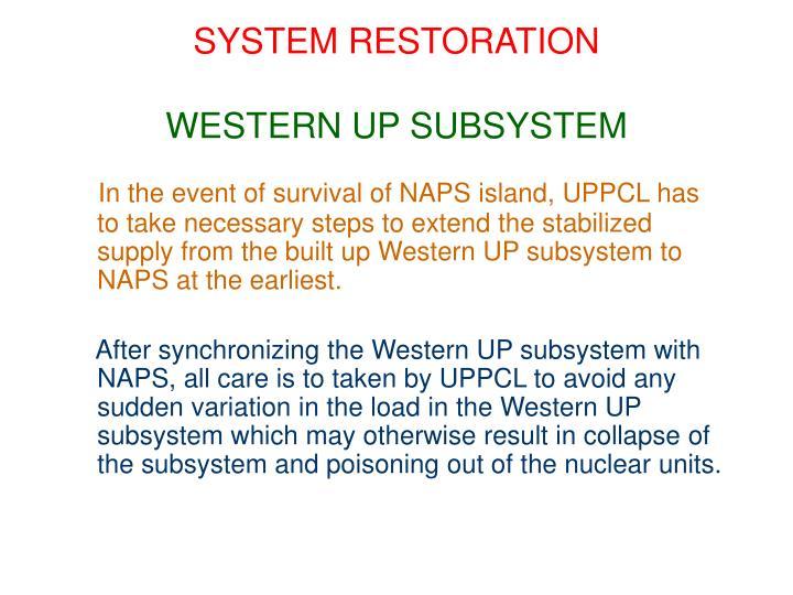 SYSTEM RESTORATION