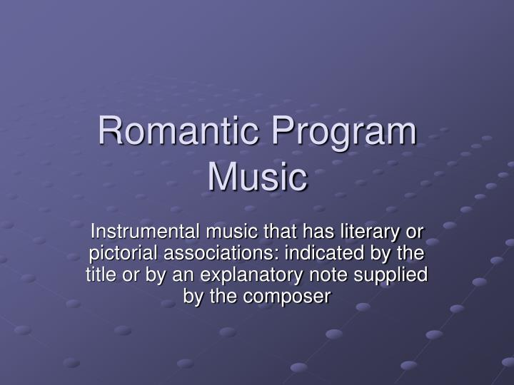 Romantic program music