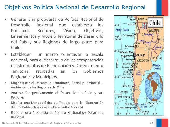 Objetivos Política Nacional de Desarrollo Regional