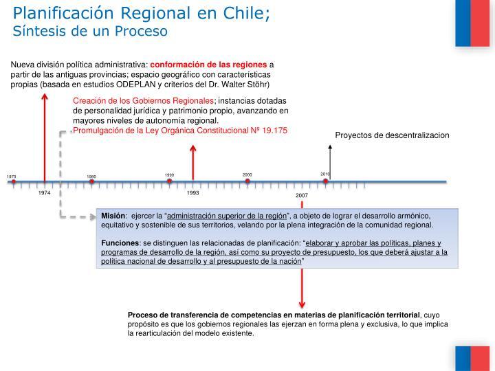 Planificación Regional en Chile;