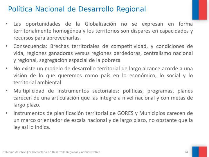 Política Nacional de Desarrollo Regional