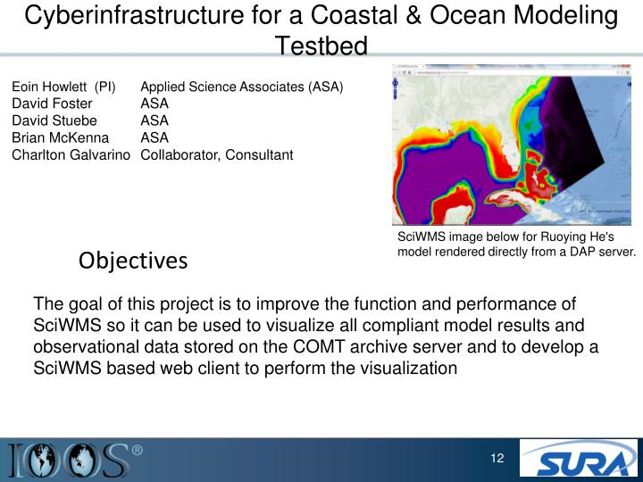 Cyberinfrastructure for a Coastal & Ocean Modeling Testbed