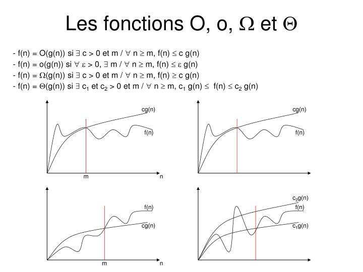 Les fonctions O, o,