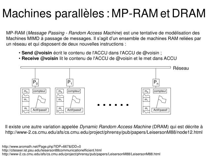 Machines parallèles