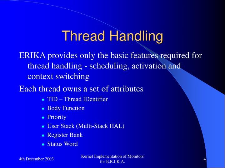 Thread Handling
