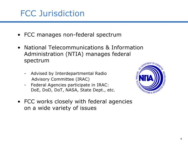 FCC Jurisdiction