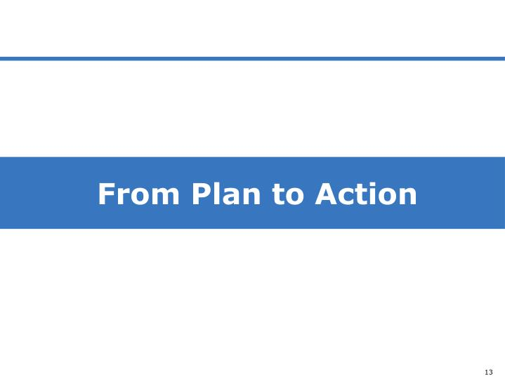 From Plan to Action
